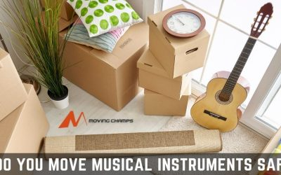 How do you move musical instruments safely?
