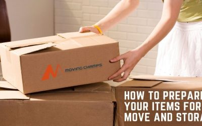 How to prepare your items for the move and storage?